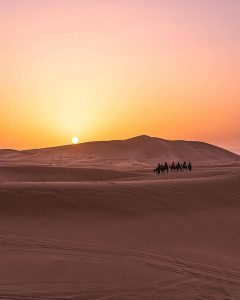 Merzouga desert one of our places will visit in 4 days tour from Fes to Marrakech