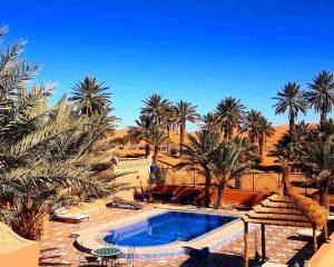 Merzouga desert hotel of our 3 days desert tour from Fes to Marrakech