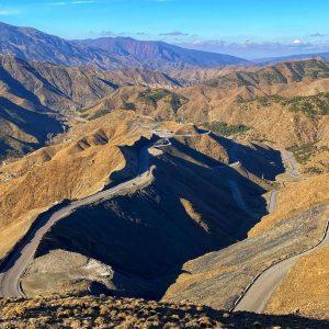 The high atlas Mountains pass