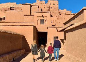 Family in a trip with Morocco tour operator